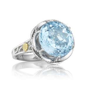 Crescent Gem Ring featuring Sky Blue Topaz