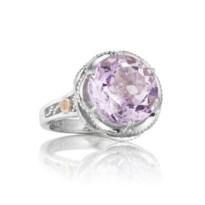 Crescent Gem Ring featuring Rose Amethyst