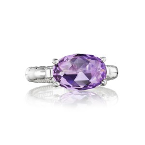 East-West Oval Ring featuring Amethyst