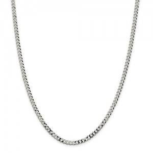 Sterling Silver Curb Chain Length: 20 In Name: 4.0 Mm