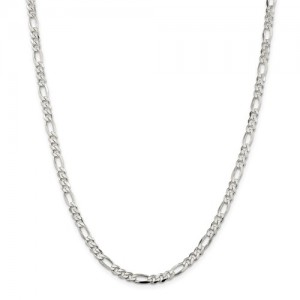 Sterling Silver Figaro Chain Length: 22 Inch Name: 4.5 Mm