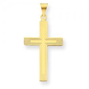 Yellow 14 Karat Religious Charm Pendant Charm Type: Cross