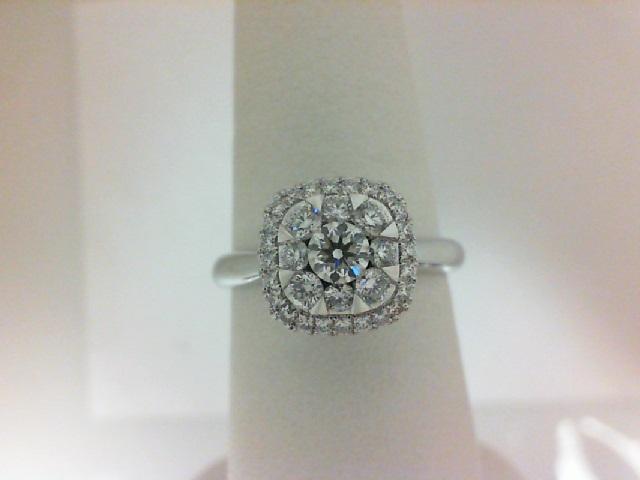 Forevermark: 18 Karat White Gold Ring With One 0.19Ct Round F Si1 Forevermark Diamond And 32=0.42Tw Round Diamonds FM 2008657