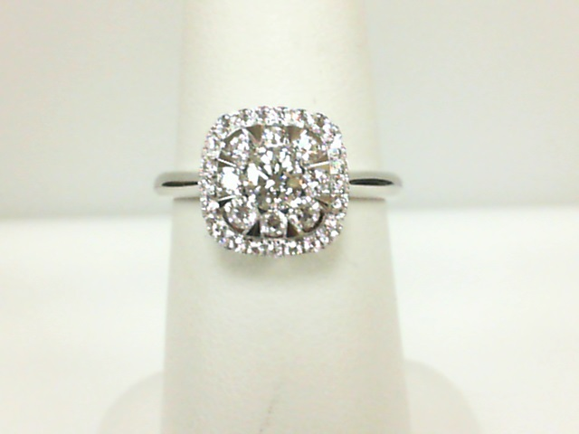 Forevermark: 18 Karat White Gold Ring With One 0.23Ct Forevermark Round H Si1 Diamond And 32=0.40Tw Round (not Forevermark) Diamonds FM 7377386