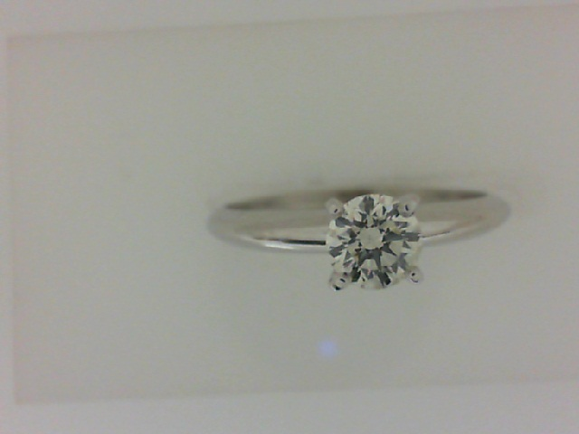 14 Karat White Gold Solitaire Ring With One 0.23Ct  Diamond
