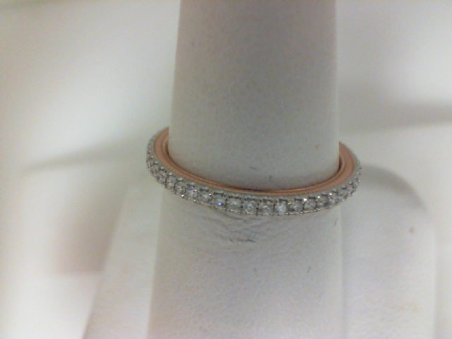 Verragio: 14 Karat White/Rose Gold Tradition Wedding Band With 37=0.29Tw Round Diamonds