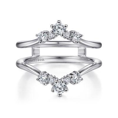 Gabriel&Co: 14 Karat White Gold Diamond Ring Enhancer 0.49Tw