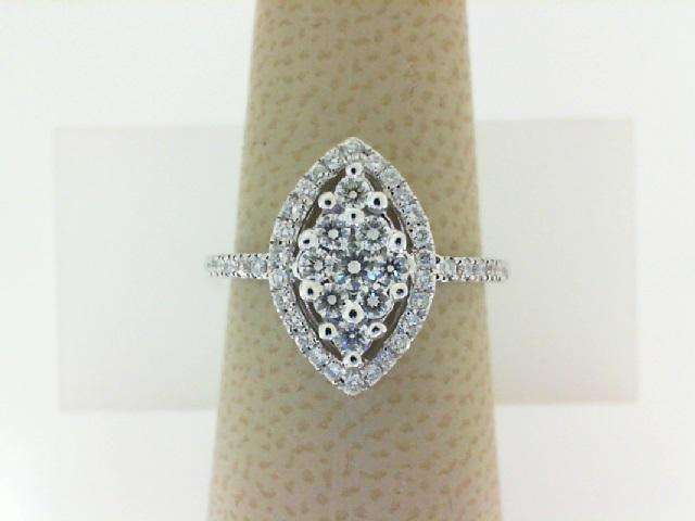 18 Karat  White Gold Fashion Ring With 47=0.45Tw Round Diamonds
