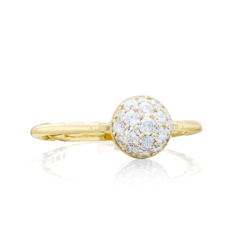 Tacori: 18 Karat Yellow Gold Fashion Ring With 0.40Tw Round Diamonds Name/Details: Sonoma Mist Pave Dew Drop Ring Ring Size: 7