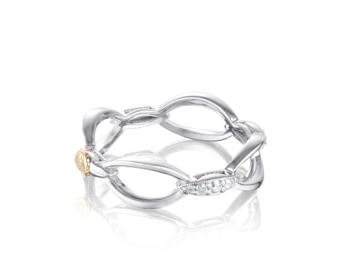 Tacori: Sterling Silver Fashion Ring With 0.12Tw Round Diamonds Name/Details: Ivy Lane Pave' Open Air Ring Ring Size: 7