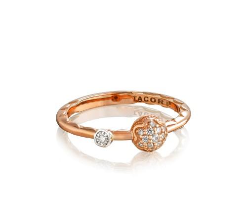 Tacori 18K/925 18 Karat Rose Gold Fashion Ring With 0.09Tw Round Diamonds Name/Details: Dew Drop Ring