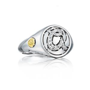 Tacori 18K/925: Sterling Silver Fashion Ring With 0.11Tw Round Diamonds Name/Details: Love Letters- Initial A