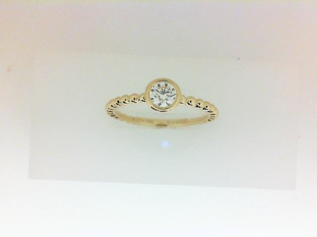 Forevermark: 18 Karat Yellow Gold Tribute Ring With One 0.25Ct Forevermark Rnd I Vs1 Diamond FM  9685595