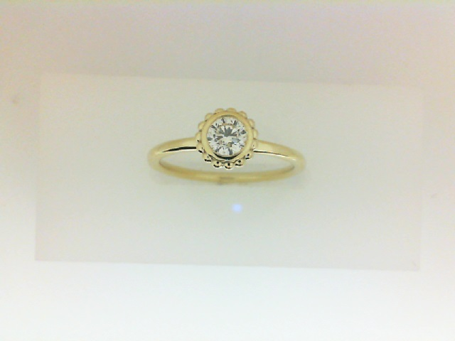 Forevermark: 18 Karat Yellow Gold Tribute Ring With One 0.25Ct Forevermark Round Diamond Fm3802807