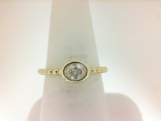 Forevermark: 18 Karat Yellow Gold Tribute Ring With One 0.29Ct Forevermark Oval E Vs2 Diamond Fm8737990