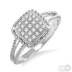 10 Karat White Gold Fashion Ring With 0.05Tw Round Diamonds