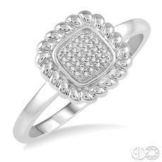10 Karat White Gold Fashion Ring With 0.07Tw Round Diamonds