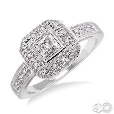 10 Karat White Gold  .05 tw Fashion Ring