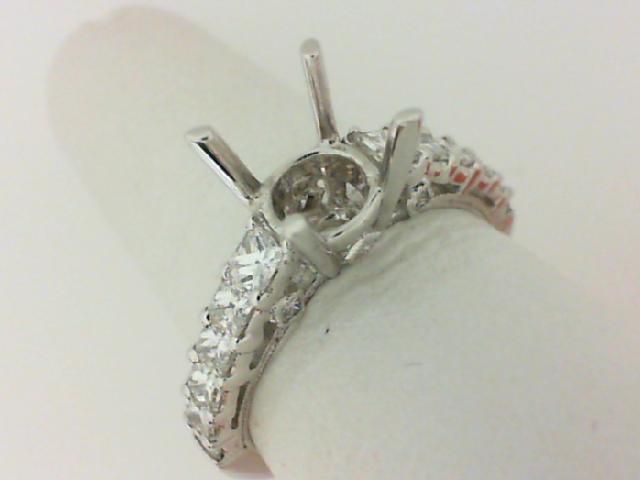 Natalie K: 14K White Gold .98Ctw Princess Diamonds Semi-Mount Ring