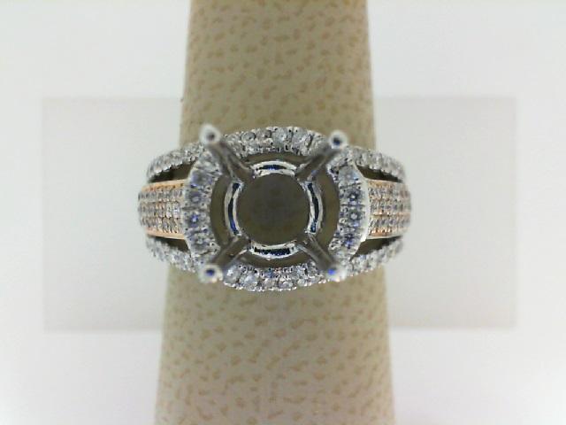 Natalie K: 18K White Gold .92Ctw Diamond Semi Mount Ring