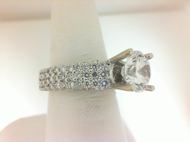 Natalie K: 14 Karat White Gold Diamond Semi-Mount Ring 1.65Ctw