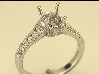 Natalie K: 14K White Gold .69Ctw Round Diamonds Semi Mount Ring  Serial #: 510533