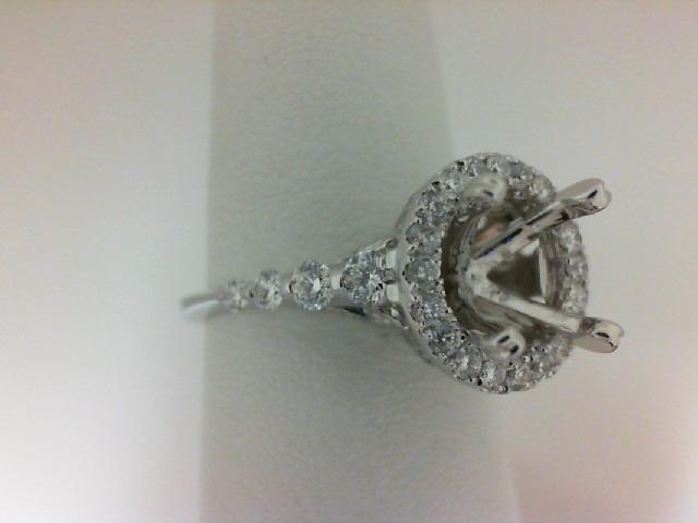 Natalie K: 14K White Gold .82Ctw Round Diamonds Semi Mount Ring