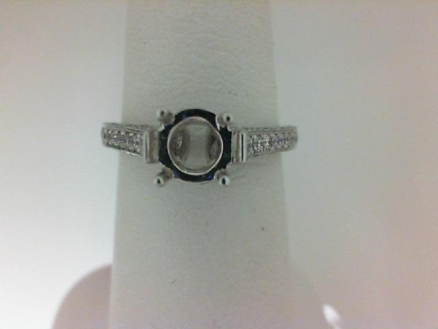 Natalie K: 14K White Gold .80Ctw Round Diamonds Semi Mount Ring  Serial #: 381794