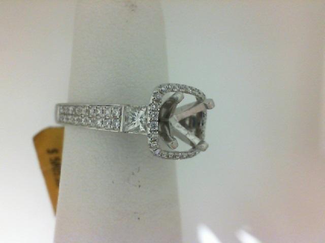Natalie K:  Platinum Semi-Mount Ring With .30Tw Round Diamonds And .28Tw Princess Diamonds Serial #: 416807