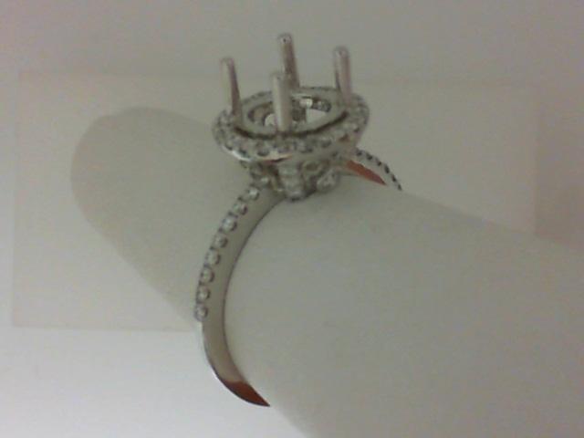 Natalie K: White 18 Karat Semi Mount Set With .36Tw Round Diamonds
