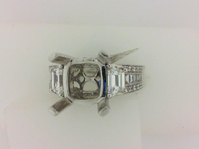 Natalie K: 14 Karat White Gold Semi-Mount Ring With 1.28Tdw