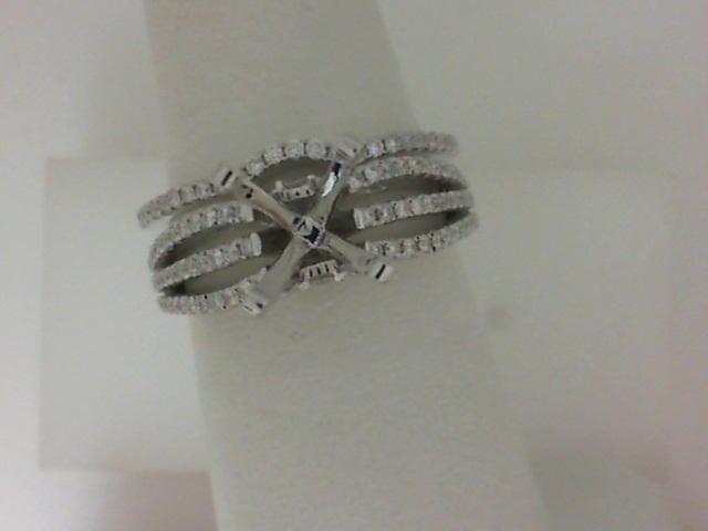 Natalie K: White 14 Karat Semi Mount Set With .48Tw Round Diamonds  Serial #: 488929