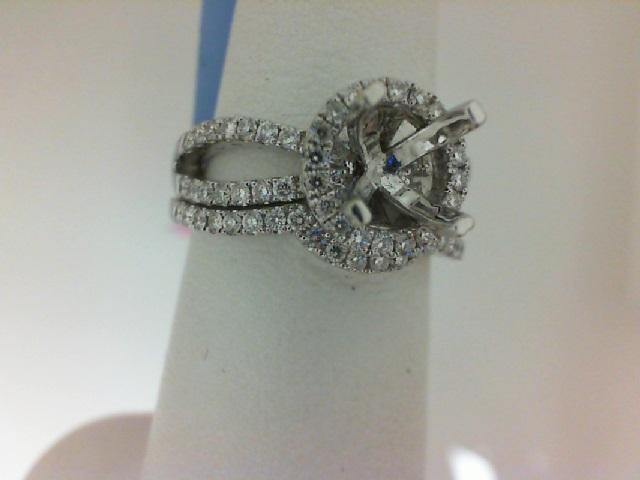 Natalie K: White 18 Karat Semi Mount Set With .74Tw Round Diamonds Serial #: 370805