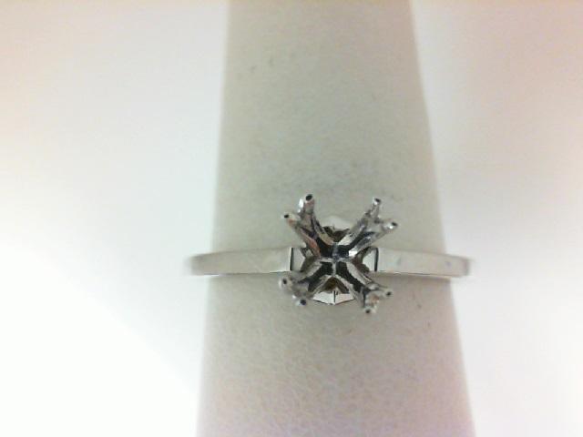Natalie K: 18 Karat White Gold Semi-Mount With Peek A Boo Round Diamonds With 2=0.02Tw