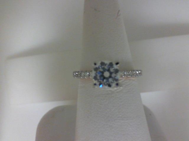 Verragio: 14 Karat White/Rose Gold Tradition Semi-Mount Ring With .45Tw Round Diamonds
