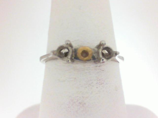 14 Karat White Gold Semi Mount Ring With .24Tw Round Diamonds