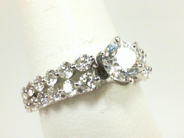 Natalie K: White 14 Karat Semi Mount Ring With 1.25Tw Round Diamonds