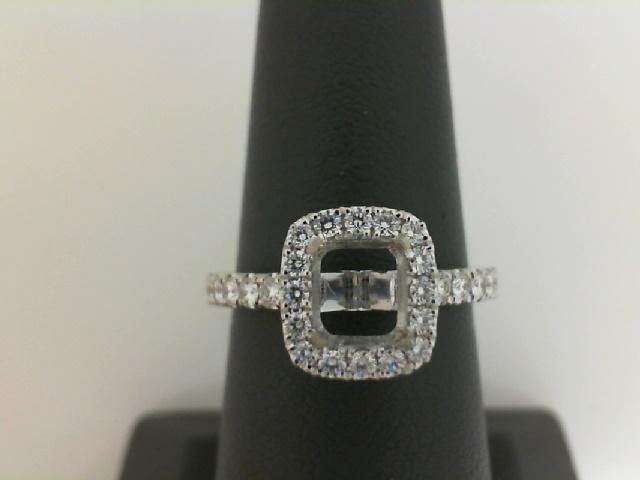Forevermark:18 Karat White Gold  Halo Semi-Mount Ring With .40Tw Round diamonds