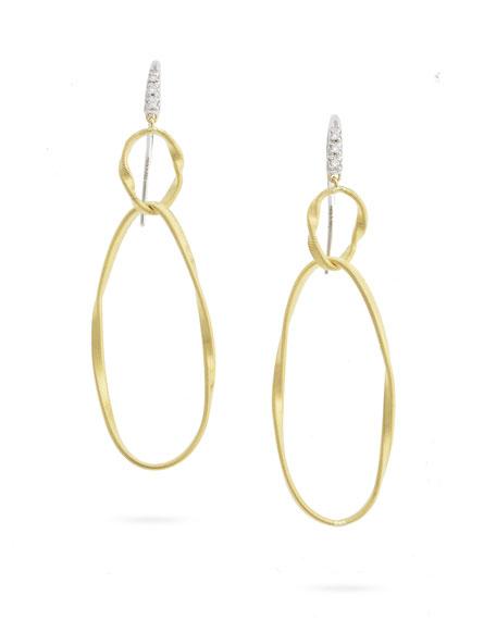 Marco Biecgo 18 Karat Yellow/White 0.05 Ct Diamond Marrakech Onde Earrings
