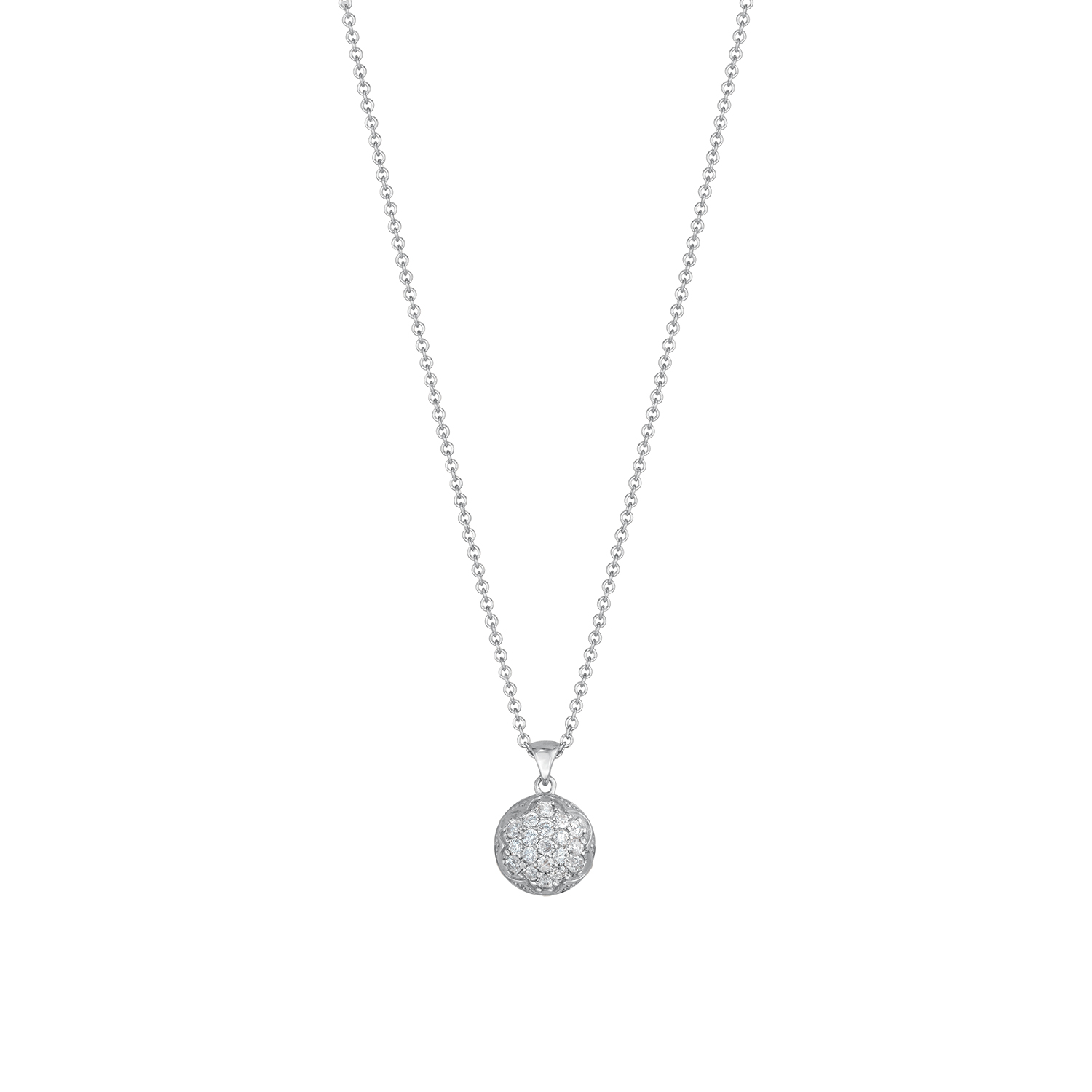 Tacori: Sterling Silver Pendant With 0.40Tw Round Diamonds Name: Sonoma Mist- Bold Pave Dew Drop Chain: Sterling Silver  Cable Link 18