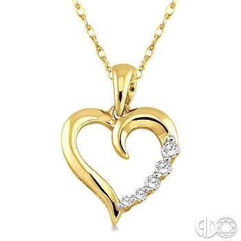 14 Karat Yellow Gold Pendant With 0.08Tw Round Diamonds 18