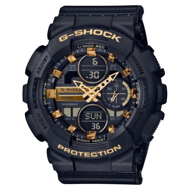 CASIO: Casio G-Shock Analog-Digital Black Resin Watch