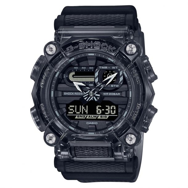 Casio:  G-Shock Analog-Digital Grey Transparent Resin Watch