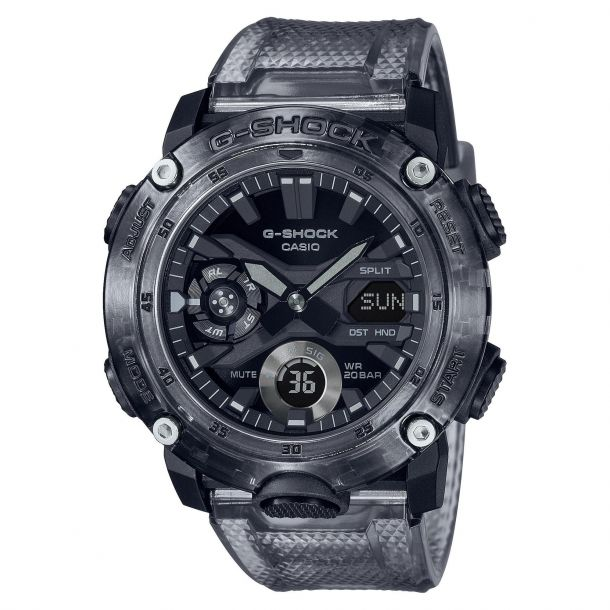 CASIO:   G-Shock Carbon Core Guard Grey Transparent Watch