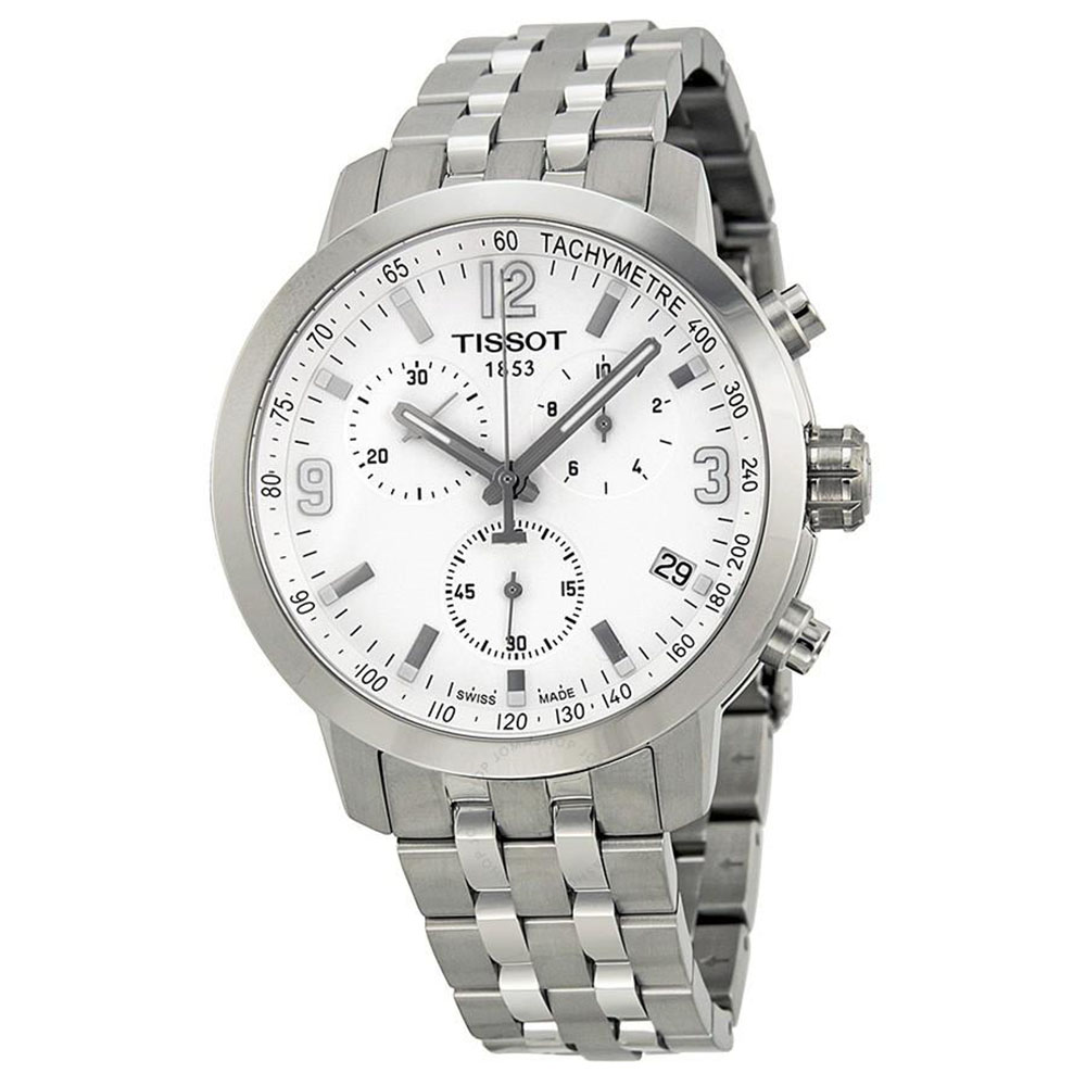 Tissot :Stainless Steel 42mm PRC200 Quartz Chronograph Watch Name: With Silver DialSilver