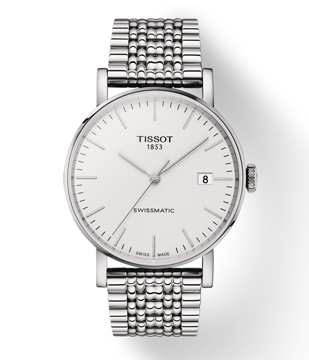 Tissot Stainless Steel 40mm Everytime Swiss Automatic WatchWith Silver Dial
