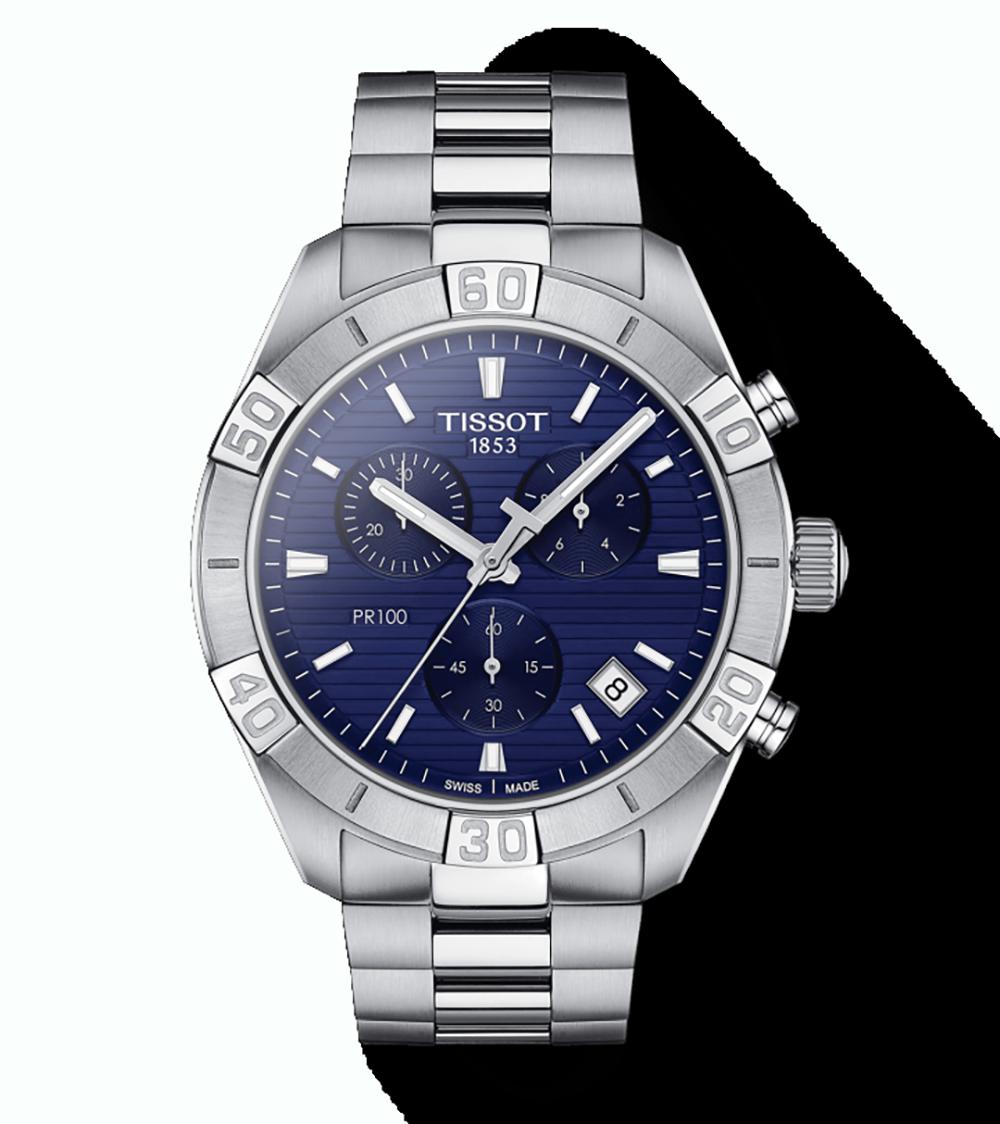 TISSOT: Stainless Steel Quartz Chronograph WatchName: PR SPORT CHRONOClasp: DeploymentFinish: SatinDial Color: BLUESerial #: YQA0N3067MM: 44