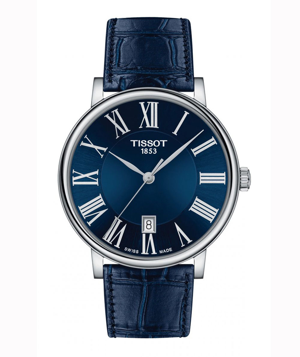 TISSOT: Stainless Steel Quartz WatchName: CARSONName of Bracelet: BLUE STRAPClasp: Tang BuckleDial Color: BLUE