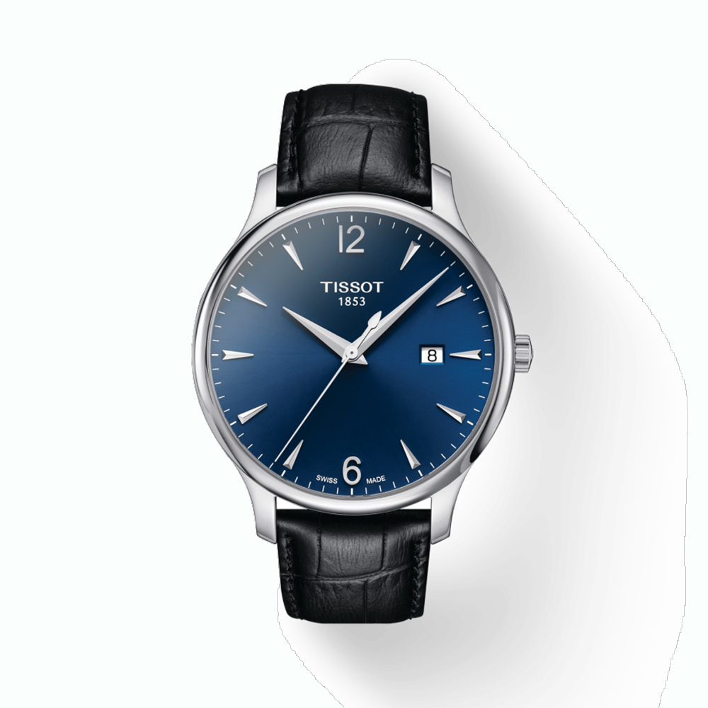 TISSOT: Stainless Steel Quartz WatchName: TRADITIONName of Bracelet: BLUE STRAPClasp: Tang BuckleDial Color: BLUEMM: 42