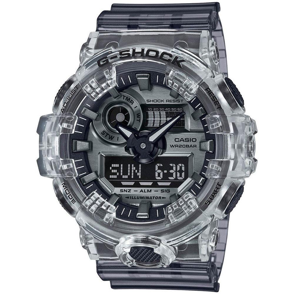 Casio G-Shock Analog-Digital Skeleton Semi-Transparent Resin Watch